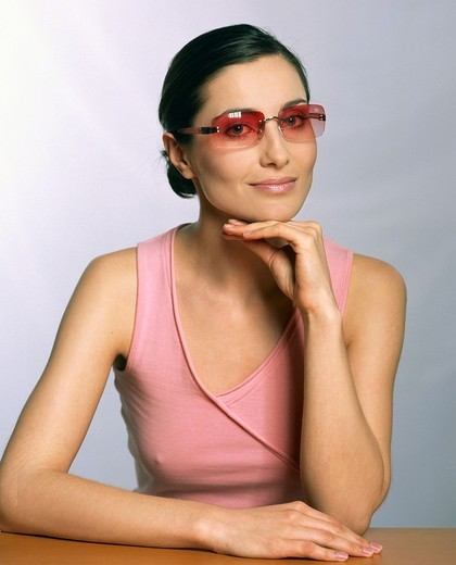 Woman with sunglasses : Stock Photo