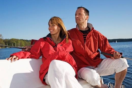 Stock Photo: 4123-15161 Couple on yacht