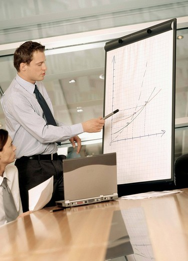 Stock Photo: 4123-16893 Two men in office