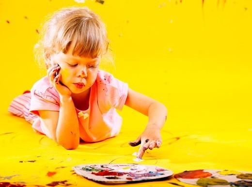 Stock Photo: 4123-19276 Little girl portrait
