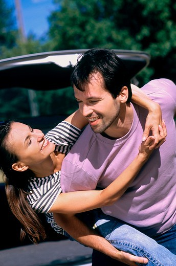 Couple at the car : Stock Photo