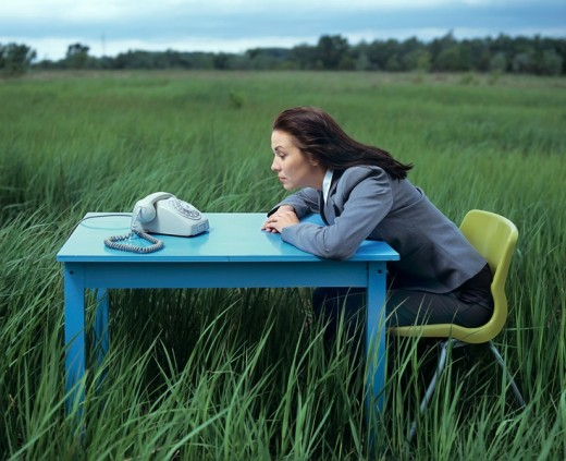 Woman on the meadow : Stock Photo