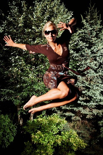 Jumping girl : Stock Photo