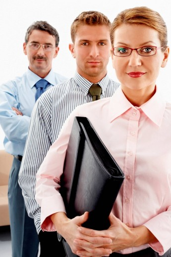 Three people in office : Stock Photo