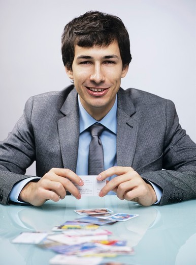 Stock Photo: 4123-24643 Man with cards
