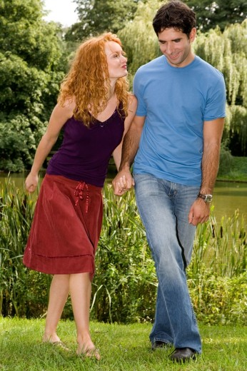 Stock Photo: 4123-25785 Couple in the park