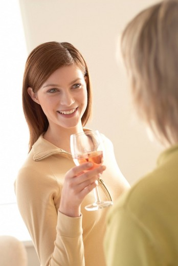 Stock Photo: 4123-2624 Woman with wine