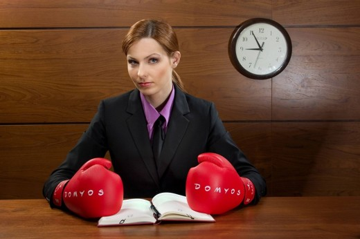 Stock Photo: 4123-26588 Woman with boxing gloves