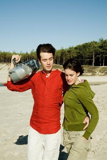 Couple on the beach : Stock Photo