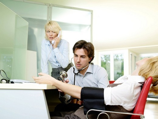 Stock Photo: 4123-28361 Workers in the office