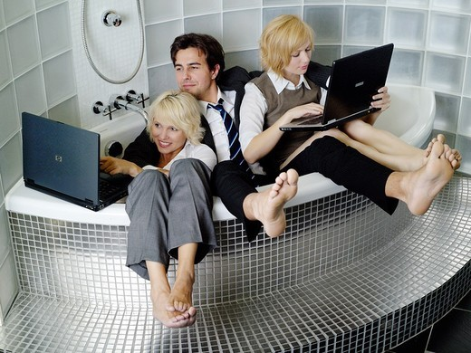 Workers in the office : Stock Photo