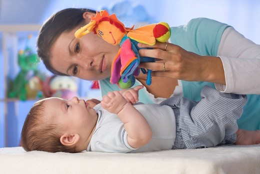 Stock Photo: 4123-29702 Mother with a baby.