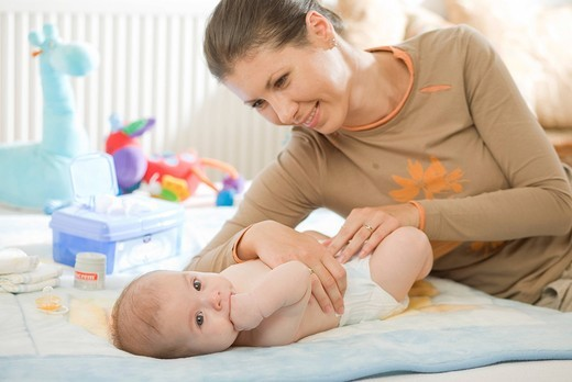 Mother with a baby. : Stock Photo