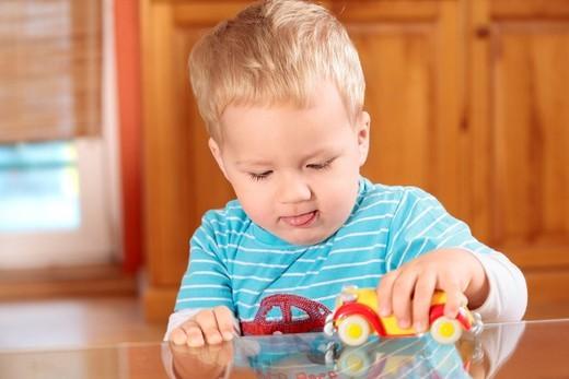 Stock Photo: 4123-32292 Little boy portrait at home