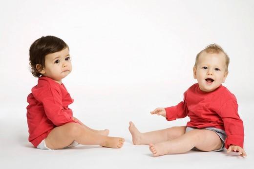 Babies portrait. : Stock Photo
