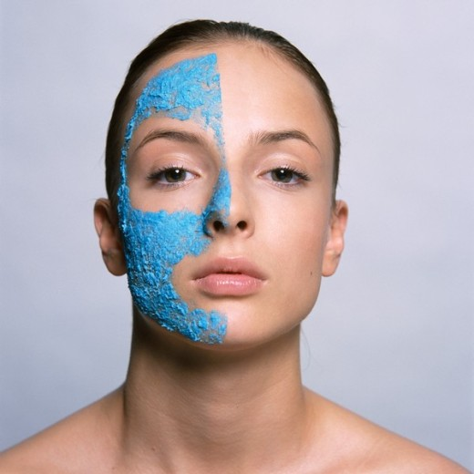 Stock Photo: 4123-4491 Woman with face mask