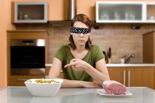 Woman with food : Stock Photo