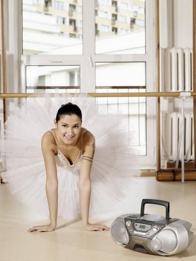 Ballet dancer rehearsing : Stock Photo