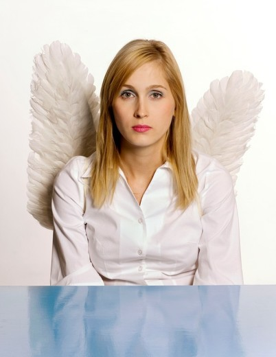 Woman with wings : Stock Photo