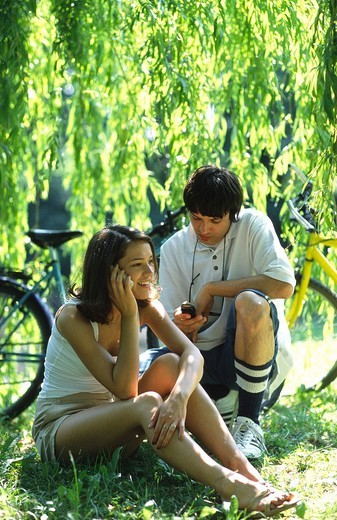 Stock Photo: 4123-9235 Couple in park