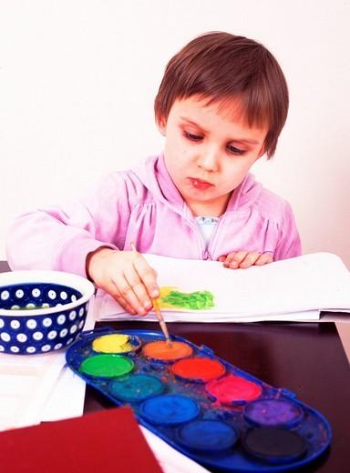 Stock Photo: 4123-9567 Child painting