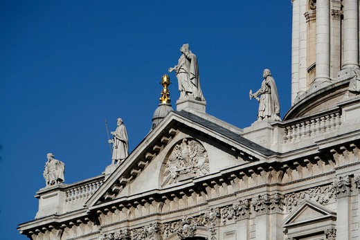 High section view of a church, St. Paul's Cathedral, City of London, London, England : Stock Photo