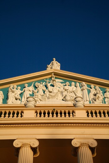 Low angle view of a building, Cumberland Terrace, Regents Park, London, England : Stock Photo