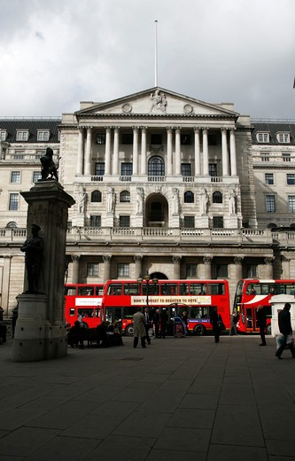 Bank of England, The City of London, UK : Stock Photo