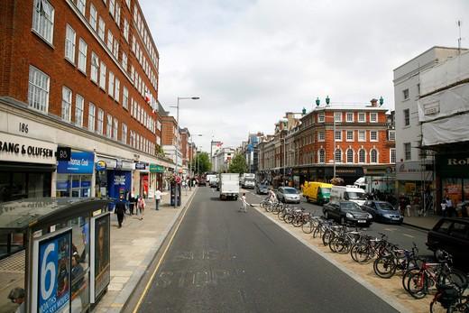 Kensington High Street, Kensington, London, UK : Stock Photo