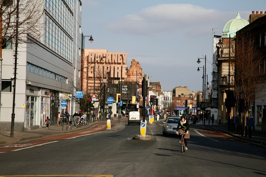 View of the Hackney Empire on Mare Street, Hackney, London, UK : Stock Photo