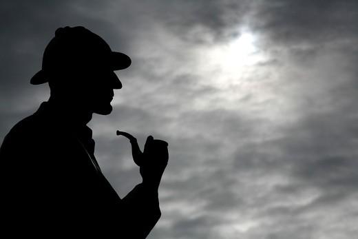 Statue of Sherlock Holmes, Marylebone, London, England : Stock Photo