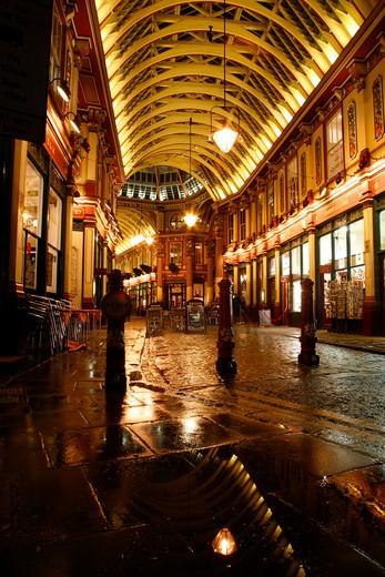 Leadenhall Market, City of London, UK : Stock Photo