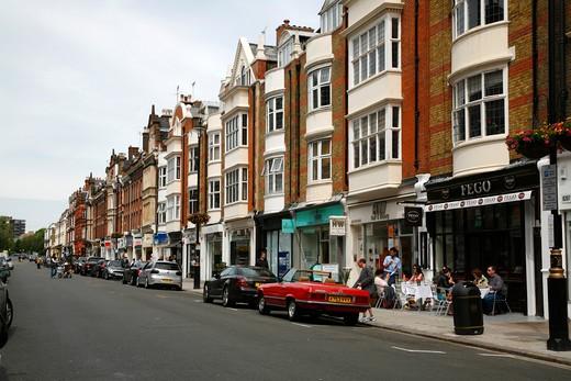 St John's Wood High Street, St John's Wood, London, UK : Stock Photo