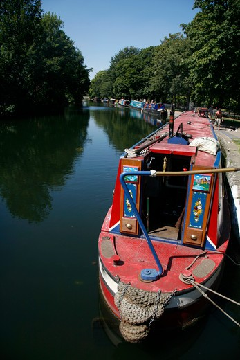 Regent's Canal at Old Ford Lock, Victoria Park, London, UK : Stock Photo