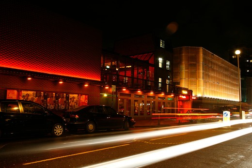 The Young Vic theatre on The Cut, Waterloo, London, UK : Stock Photo