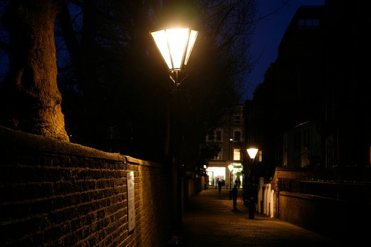 Lanterns on Thistle Grove, Chelsea, London, UK : Stock Photo