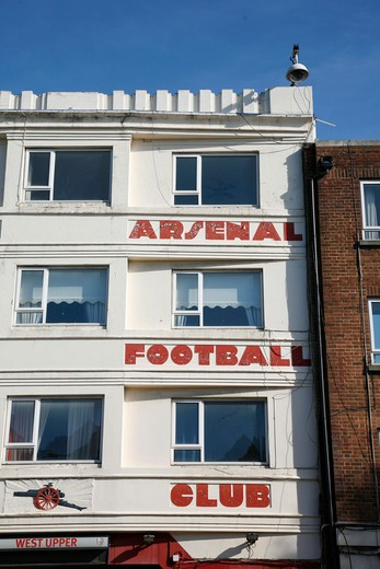Entrance to Arsenal's old Highbury football ground, Highbury, London, UK : Stock Photo