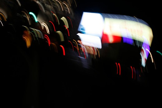 Blur motion image of Piccadilly Circus, London, UK : Stock Photo