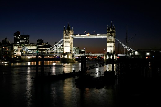 River Thames at Tower Bridge, City of London, UK : Stock Photo
