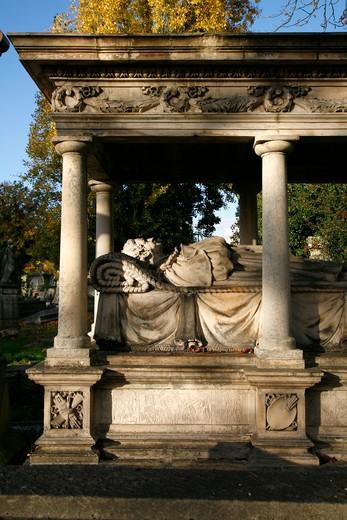 UK, London, Kensal Green, Tomb of painter William Mulready at Kensal Green Cemetery : Stock Photo