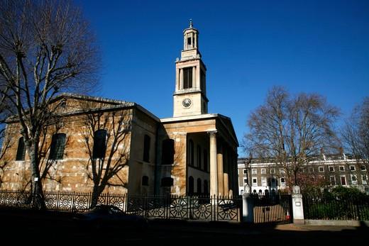 UK, London, Borough, Holy Trinity Church in Trinity Church Square : Stock Photo