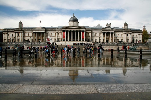 UK, London, National Gallery in Trafalgar Square : Stock Photo