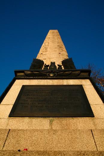 UK, London, Cleopatra's Needle on Victoria Embankment : Stock Photo