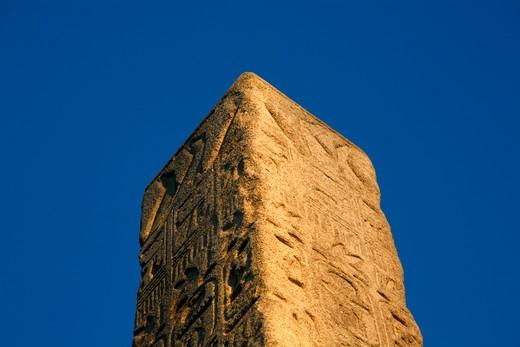 UK, London, Top of Cleopatra's Needle on Victoria Embankment : Stock Photo