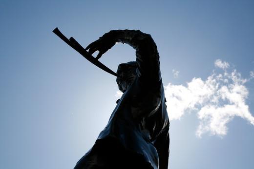 UK, London, Kensington And Chelsea, Peter Pan statue in Kensington Gardens : Stock Photo