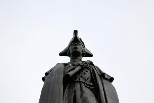 UK, London, Greenwich, Statue of General Wolfe in Greenwich Park : Stock Photo