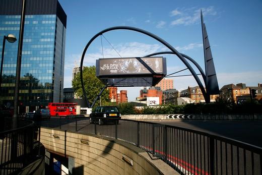 UK, London, Shoreditch, Old Street roundabout : Stock Photo