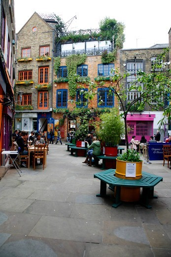 Neals Yard in Seven Dials, Covent Garden, London, UK : Stock Photo