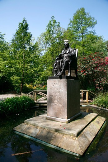 Lord Holland statue in Holland Park, London, UK : Stock Photo