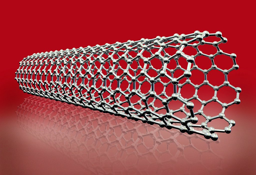 Stock Photo: 4128R-13236 Carbon nanotube, computer artwork.